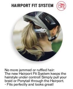 Helm met 'hairport' van Specialized
